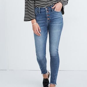 "Madewell 10"" High-Rise Skinny Jeans Cordova Button"